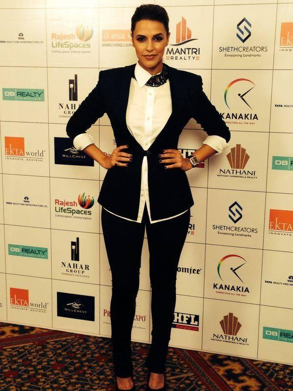 Neha Dhupia Strikes A Pose For Camera At The Times Property Expo Inauguration