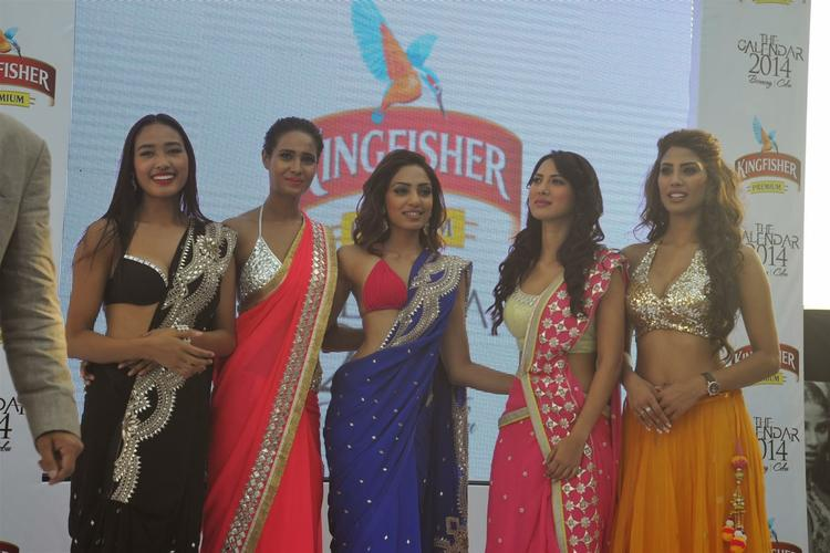 Ketho Leno,Rikee,Sobhita,Rochelle And Nicole Posed For Lenses At Kingfisher 2013 Calendar Launch Event