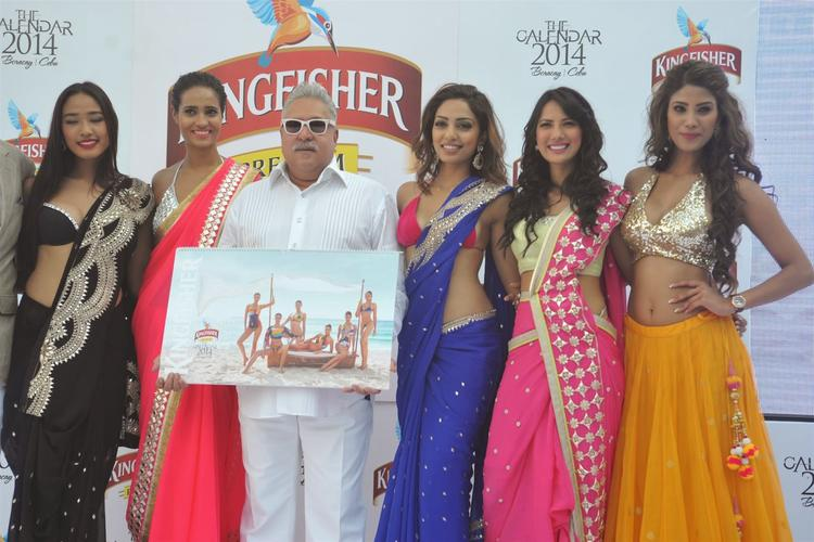Ketho Leno,Rikee,Vijay,Sobhita,Rochelle And Nicole Clicked During The Launch Of Kingfisher 2013 Calendar