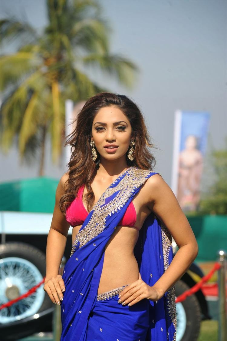 Sobhita Dhulipala In Saree Sexy Look During The Launch Of Kingfisher 2013 Calendar