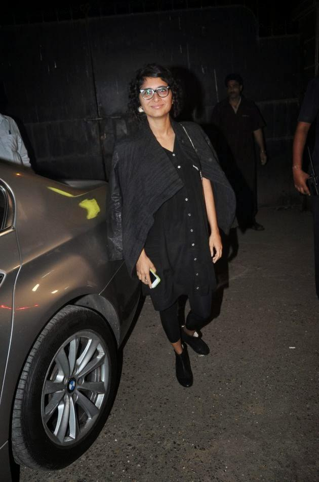 Kiran Rao Dressed In All Black At The Special Screening Of The Hollywood Movie The Wolf Of Wall Street