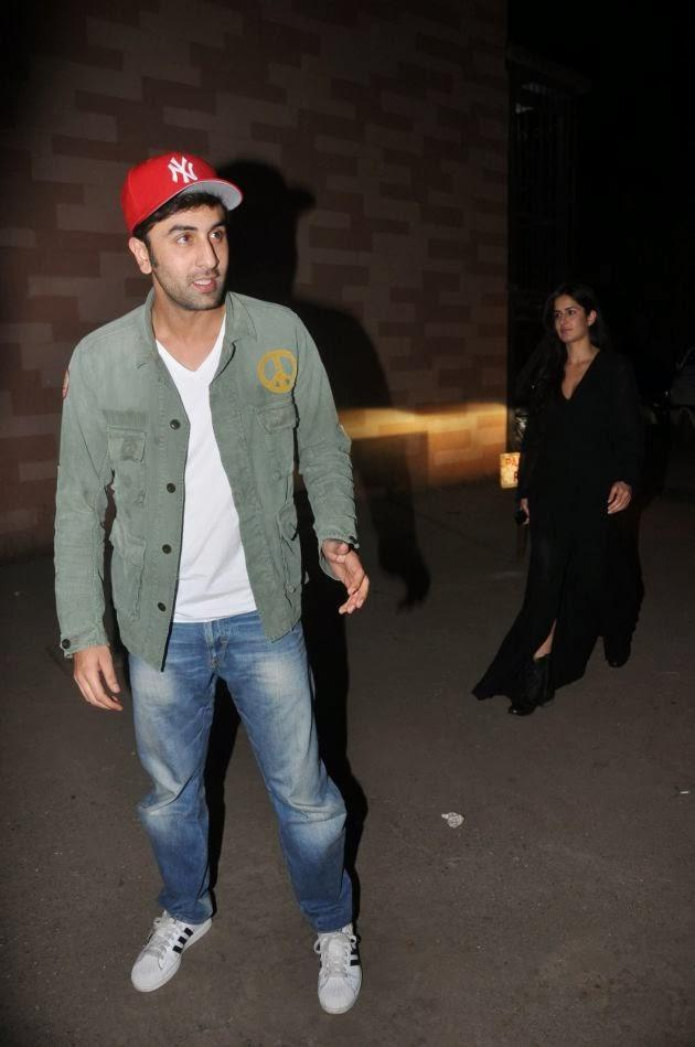 Ranbir And His Alleged Girlfriend Katrina Arrived Together At The Screening Of The Wolf Of Wall Street