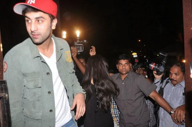 Ranbir And Katrina Kaif Were Snapped Leaving The Screening Of The Hollywood Film The Wolf Of Wall Street