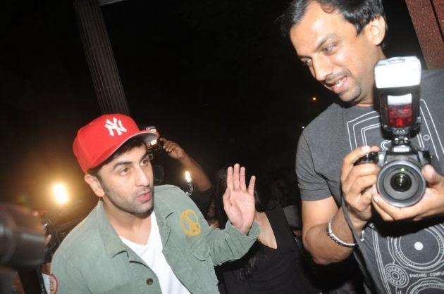 Ranbir Kapoor Arrives At The Screening Of The Wolf Of Wall Street In Mumbai