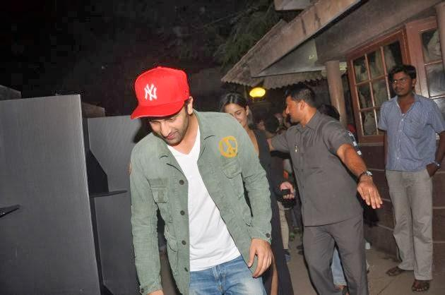 Ranbir Kapoor With Casual Look Snapped At The Special Screening Of The Wolf Of Wall Street