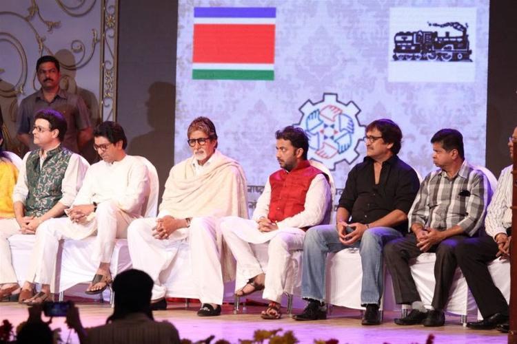 Amitabh Bachchan And Mahesh Manjrekar At MNCS' 7th Anniversary Function In Mumbai