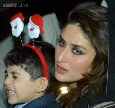 Kareena Spotted Going For The Midnight Mass For Christmas With The Latter's Kids