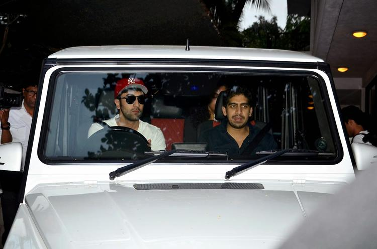 Ranbir Kapoor And Ayan Mukherjee At Shashi Kapoor's Christmas Brunch