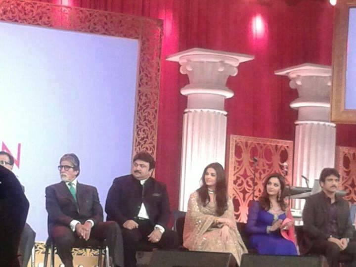Aishwarya And Her Father-In-Law Amitabh At Kalyan Jewellers Inauguration Ceremony