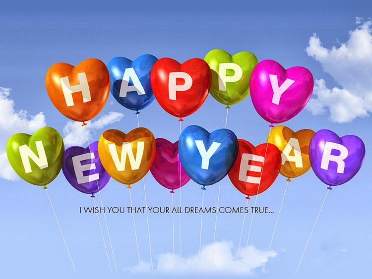 Wish You A Blessed And Joyous Happy New Year 2014 Wallpaper