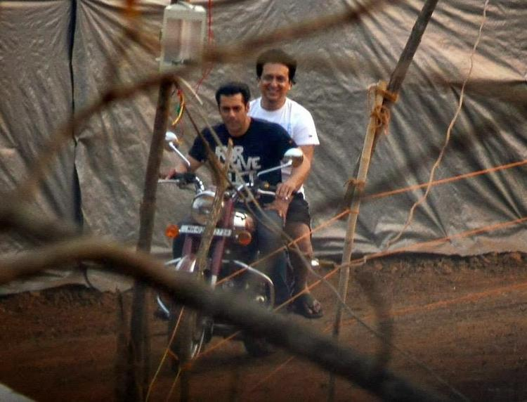 Salman Bike Riding At Outdoor With Friend Sajid Nadiadwala