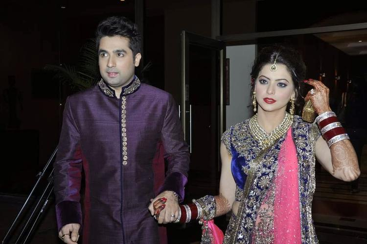 Aamna Sharif And Amit At Their Wedding Reception