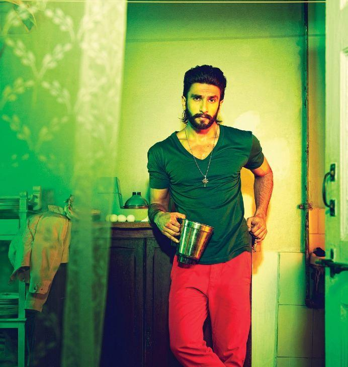 Ranveer Singh Hot Moustache Look Shoot For Filmfare January 2014 Issue