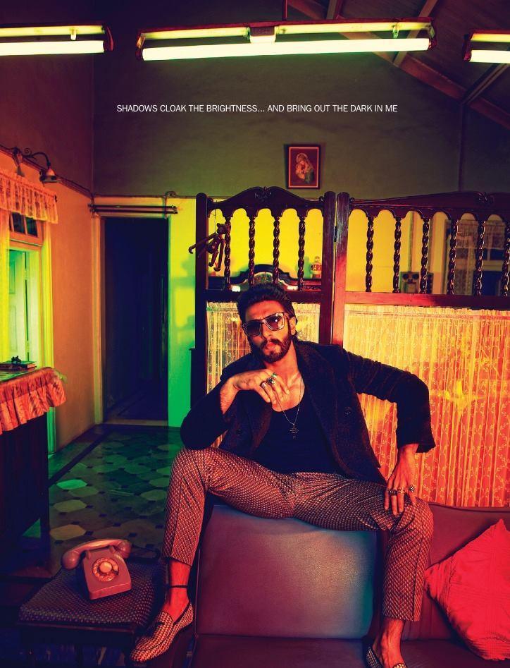 Ranveer Singh Super Cool Look Pose For Filmfare January 2014 Issue