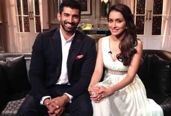 Aashiqui 2 Love Birds Aditya Roy Kapur And Shraddha Kapoor Arrive For Koffee With Karan