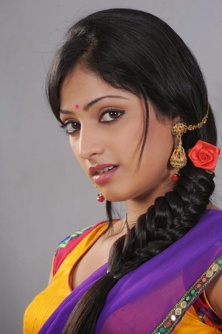 Haripriya Dazzling Cute Face Look Still From Abbayi Class Ammayi Mass Movie