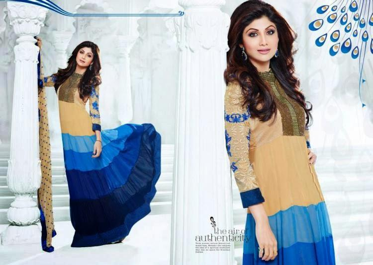 Bollywood Beauti Queen Shilpa Shetty  New Salwar Kameez Collection Photo Shoot