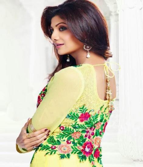 Bollywood Hot Diva Shilpa Shetty New Salwar Kameez Collection Photo Shoot