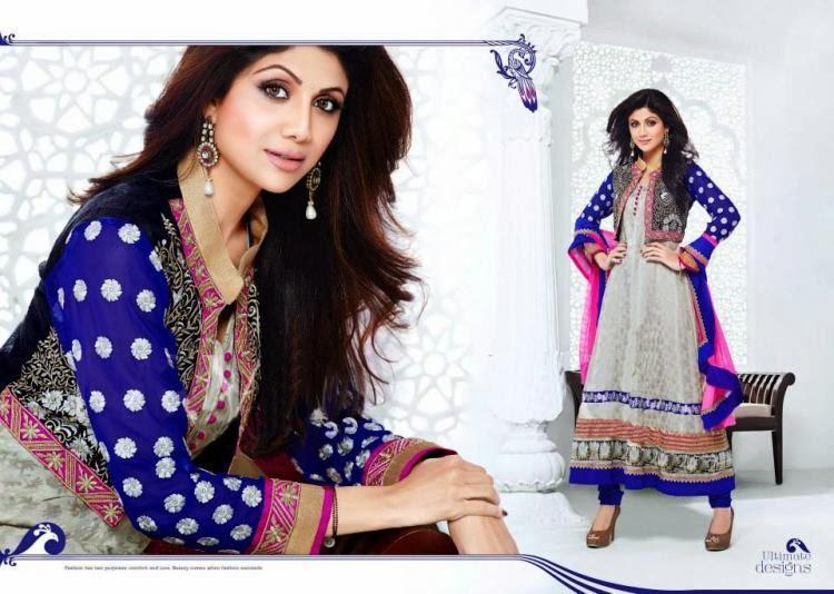 Pretty Shilpa Shetty Elegant Look Photo Shoot For New Salwar Kameez Collection