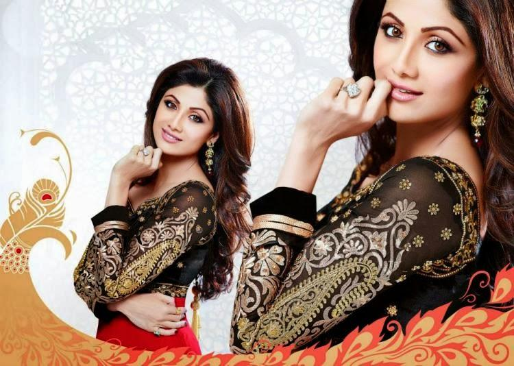 Sexy Mummy Shilpa Shetty New Salwar Kameez Collection Photo Shoot