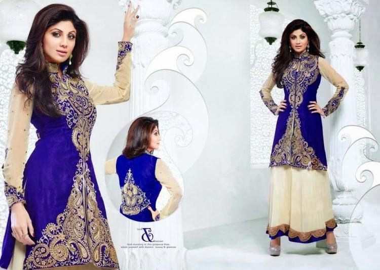 Shilpa Shetty Exposing Her New Anarkali Suit Design's