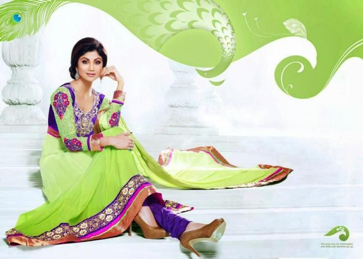 Shilpa Shetty New Salwar Kameez Collection Simple Sizzling Pic