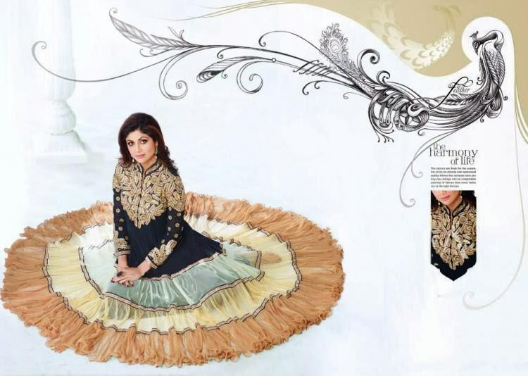 Shilpa Shetty  Show Her New Designing Anarkali Suit For New Collection