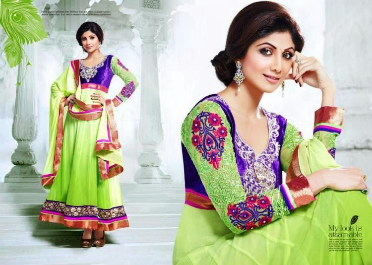 Shilpa Shetty Simple And Cool Pose Photo Shoot For New Collection Anarkali Suit