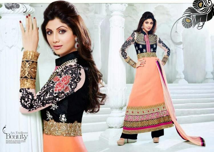 Shilpa Shetty Strikes A Hot Look In This Anarkali Suit For New Salwar Kameez Collection