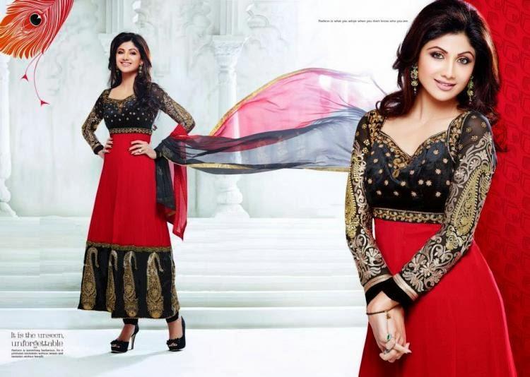 Stunning Beauty Shilpa Shetty New Salwar Kameez Collection Photo Shoot