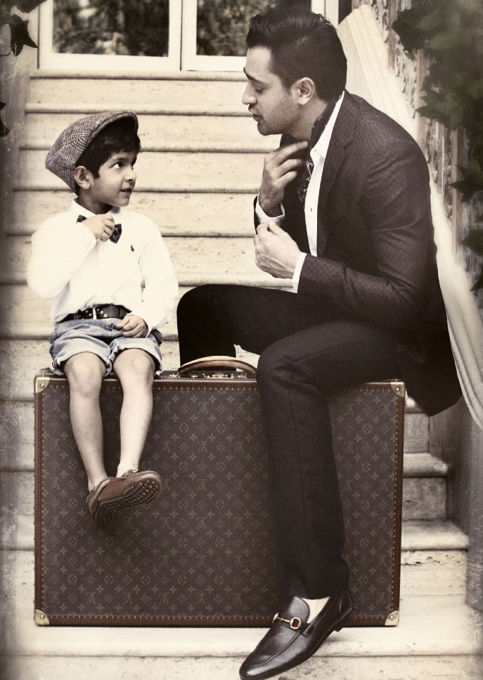 Imran Khan Cool With A Kid For Noblesse India Magazine January 2014 Issue