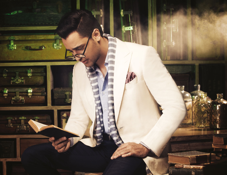 Imran Khan Reading Book Pose Shoot For Noblesse India Magazine January 2014 Issue