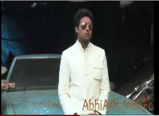 Abhishek Bachchan Stylish Look On The Sets Of Dabboo Ratnani 2014 Calendar Shoot