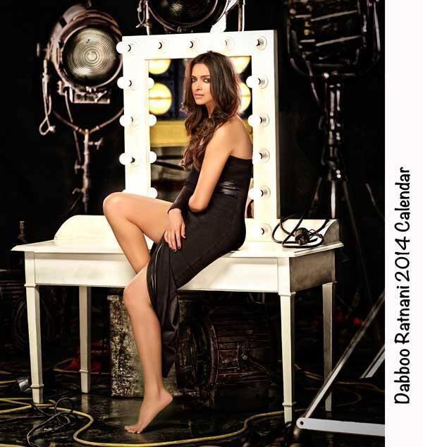 Deepika Padukone Sizzling Look For Dabboo Ratnani 2014 Calendar