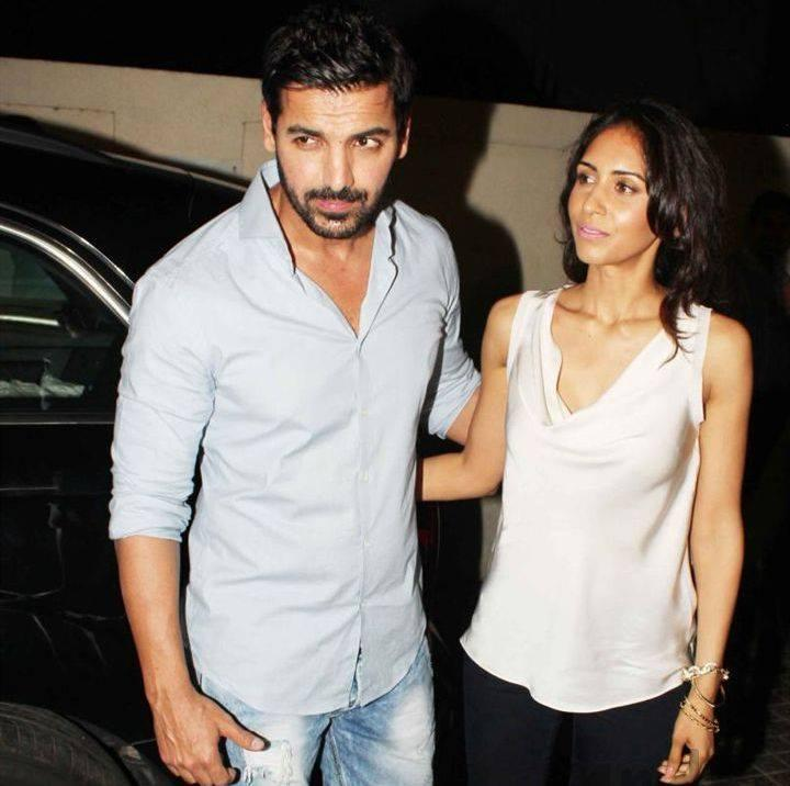 Couple John And Priya During The Special Screening Of Shootout At Wadala