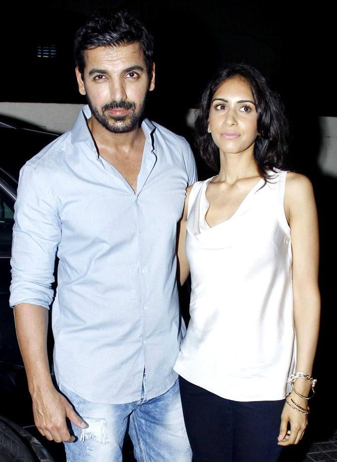 John And Priya At The Special Screening Of Shootout At Wadala
