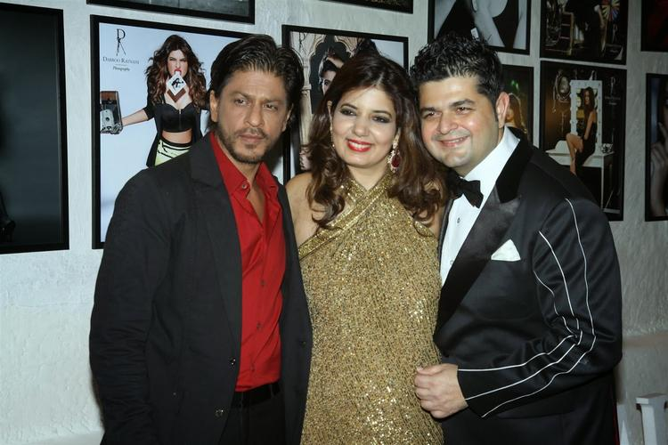 Shahrukh Dabboo And His Wife At Dabboo Ratnani's 2014 Calendar Launch Event