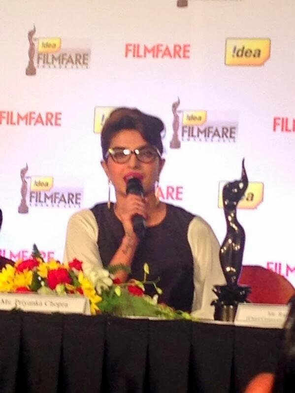 Actress Priyanka Chopra Attended The 59th Idea Filmfare Awards Press Conference