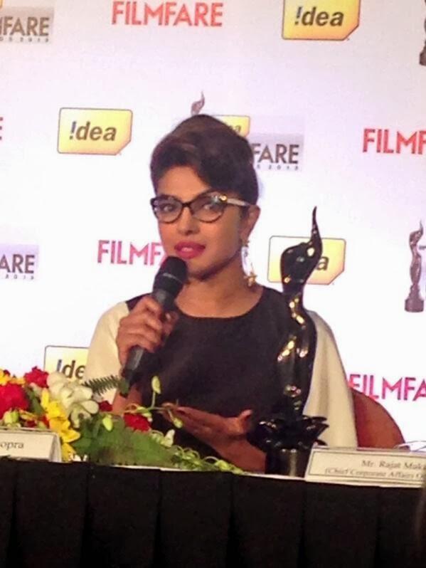 Priyanka Talks During The 59th Idea Filmfare Awards Press Conference
