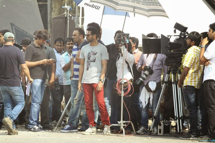 Director Prabhu Dheva Arrives On The Sets Of Upcoming Bollywood Movie Action Jackson