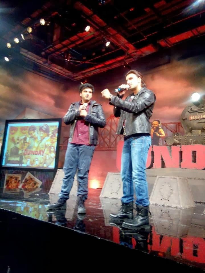 Arjun Kapoor And Ranveer Singh Address The Media During The Music Launch Of Film Gunday
