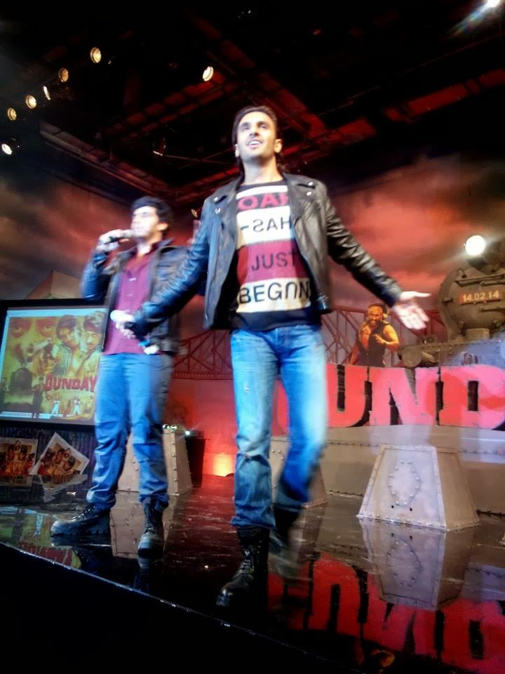 Arjun Kapoor And Ranveer Singh Performs At The Music Launch Of Film Gunday