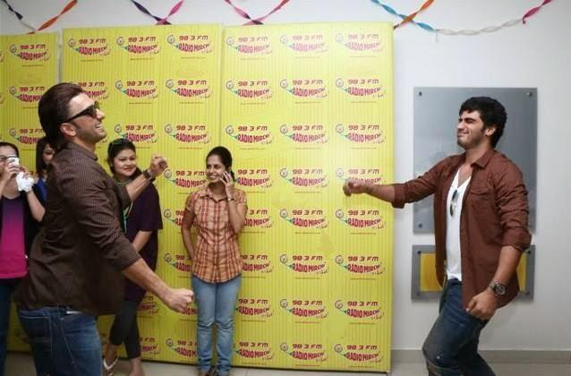Ranveer Singh And Arjun Kapoor Cool Look During The Promotion Of Gunday On 98.3 Radio Mirchi
