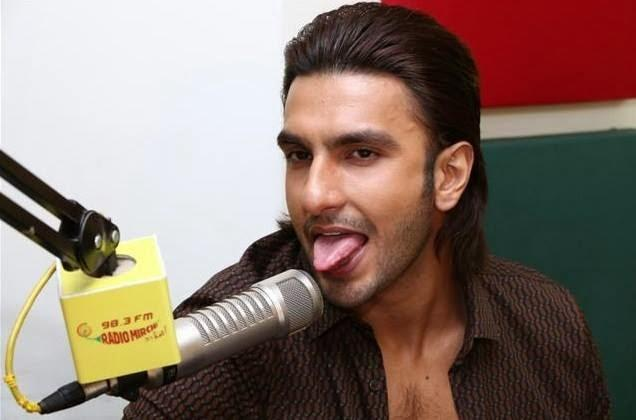 Ranveer Singh Funny Look During The Promotion Of Gunday At 98.3 FM