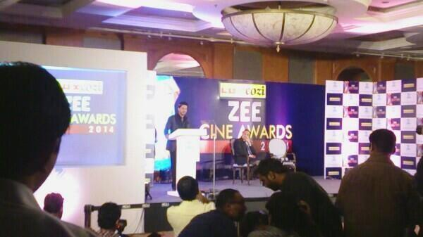 Shahrukh Khan Addresses The Media At Zee Cinema Awards 2014 Press Conference