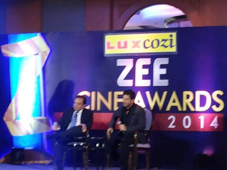 Shahrukh Khan Attend The Zee Cinema Awards 2014 Press Conference