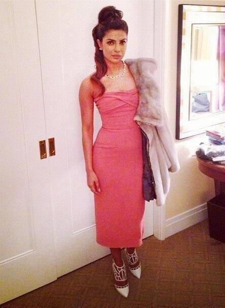 Priyanka Was Earlier Spotted At The Golden Globes After Party In A Pink Dress