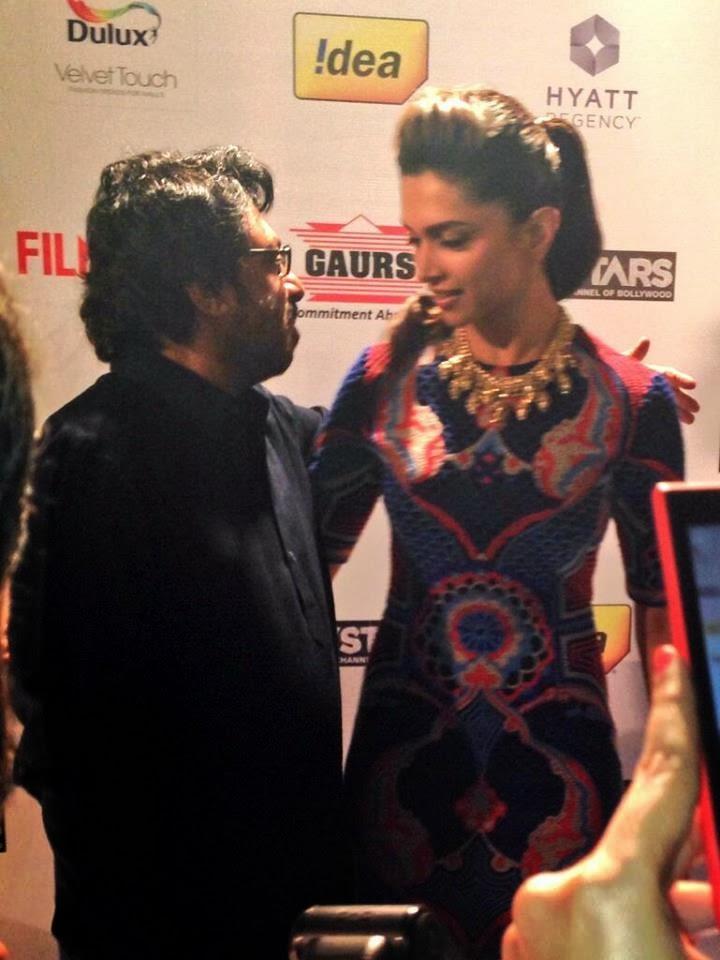 The Ace Director Sanjay Leela Bhansali And Gorgeous Deepika Padukone At 59th Idea Filmfare Pre-Awards Party