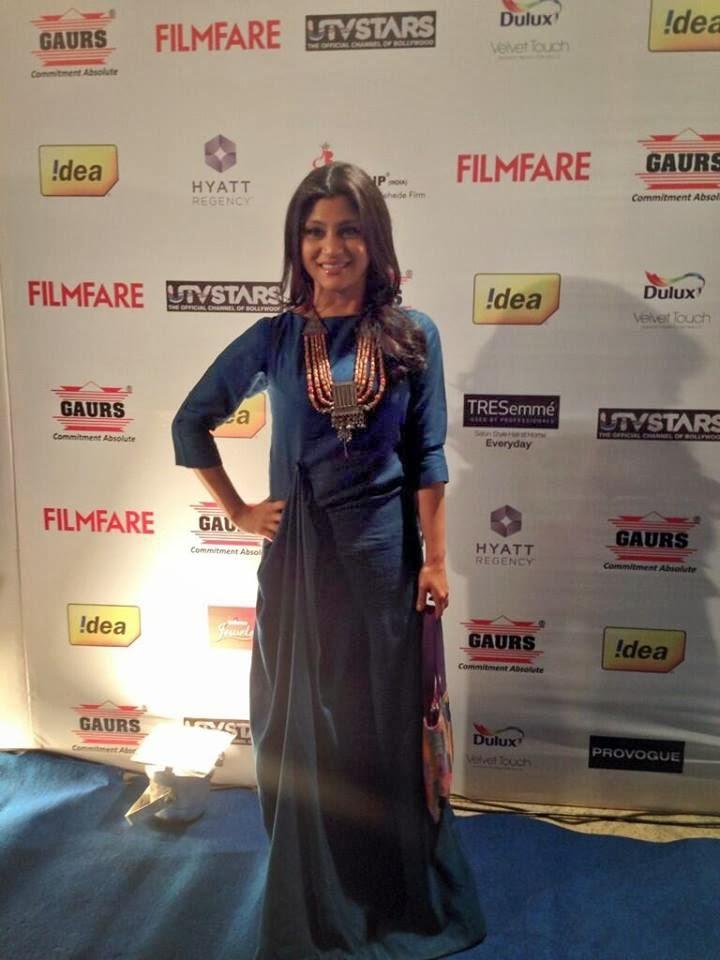 Konkona With A Eleganr Look At 59th Idea Filmfare Pre-Awards Bash