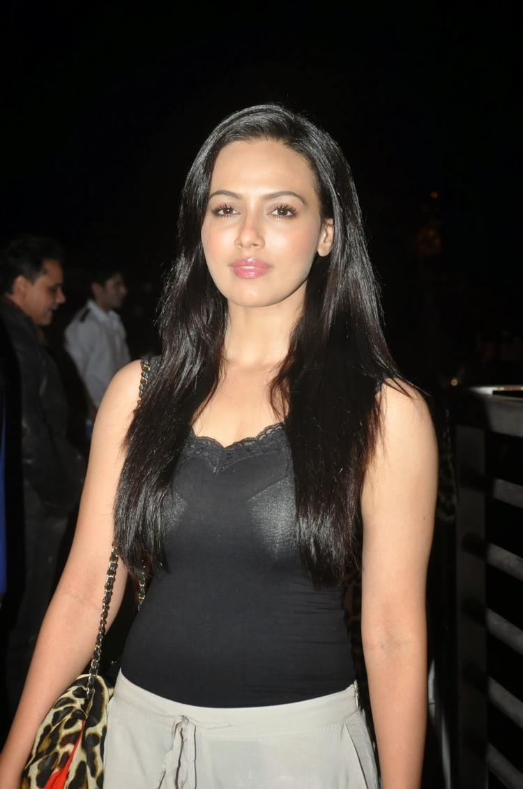Sana Khan, Who Apparently Has A Negative Role In Jai Ho, Smiles For The Cameras